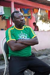 Domingo Firmiano dos Santos, 52 anos, tamb&eacute;m conhecido por Chapoca. Denuncia h&aacute; mais de trinta anos a viol&ecirc;ncia da Empresa Fibria contra as comunidades quilombolas <br /> do Sap&ecirc; do Norte.