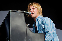 © Licensed to London News Pictures. 11/08/2013. Newquay, UK. Tom Odell performs on the final night of the Boardmasters Festival. Photo credit : Ashley Hugo/LNP