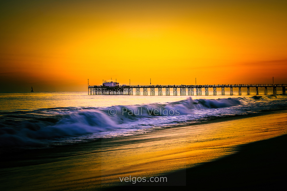 Balboa pier picture at sunset in orange county california for Fishing in orange county