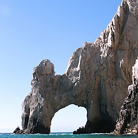 Beaches around Land's End in Baja California Sur, Mexico. Lover's beach, Divorce beach, a magnificent view of popular Cabo San Lucas's landmark Land's End (or the Arch), a view to high end residential community Pedregal de Cabo San Lucas and Capella Pedregal Hotel & Resort.