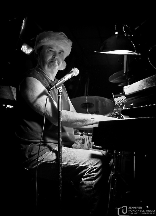 Sigmund Snopek on piano with Milwaukee Sleighriders live at Shank Hall. Photo ©  Jennifer Rondinelli Reilly. All rights reserved. May not be reused without permission.