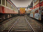 Retired boxcar at Steamtown, USA, National Park.