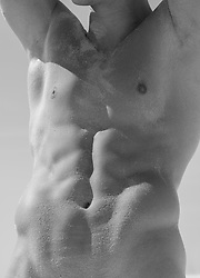 Detail of a muscular man's body