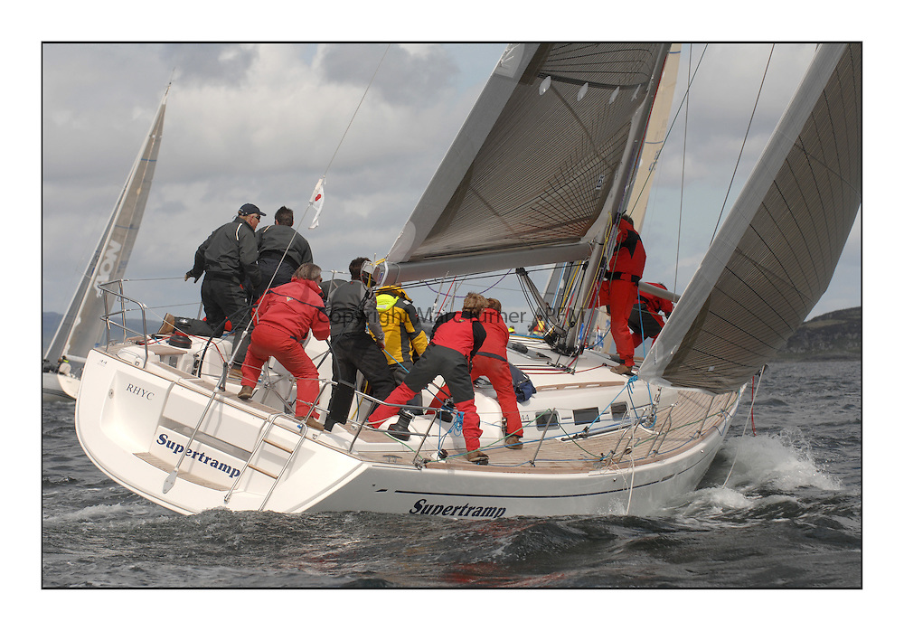 Sailing - The 2007 Bell Lawrie Scottish Series hosted by the Clyde Cruising Club, Tarbert, Loch Fyne...IRC Class 1 Supertramp 6541C.