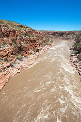 The Fitzory River rushes down Sir John Gorge on Old Mornington Station over a small set of rapids.