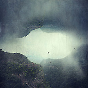 Image manipulation - foggy mountains on the island of La Palma/Canary Islands/ Spain<br /> <br /> Prints &amp; More:https://society6.com/product/the-opening-ovo_print#1=45