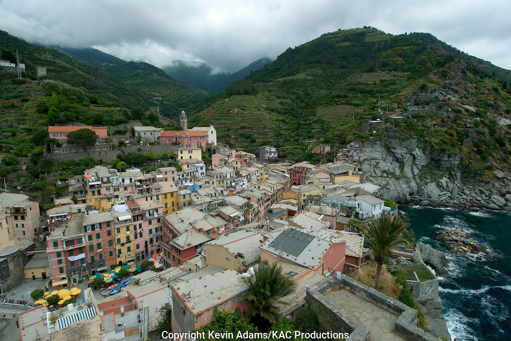 38_03_02_04102.Vernazza, Italy, one of the Cinque Terre villages on the Italian Riviera of the Ligurian Sea.