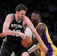 Basketball: LA Lakers vs San Antonio Spurs