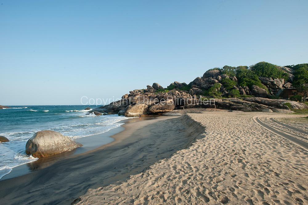 Beach off the East Coast village of Panama. South of Arugam Bay.