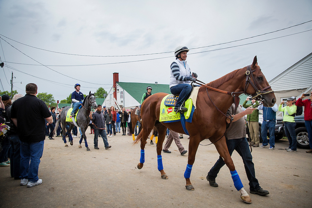 April 30, 2015: Dortmund heads to the track at Churchill Downs Louisville Ky. Alex Evers/ESW/CSM