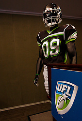 Aug 13, 2009; New York, NY, USA; The United Football League unveils the uniform for the New York Sentinels at The Princeton Club.