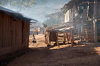 Entering a village along the Lao/Chinese border on a late afternoon.