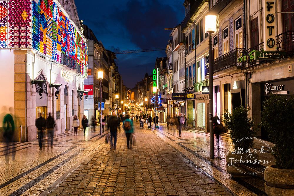 The shopping district on Rua de Santa Catarina, Porto, Portugal