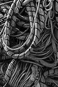 detail of rope found on a fishing dock
