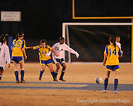 Oxford High's Maia Cotello vs. Ridgeland in girls soccer North Half championship play-off action on Tuesday, February 2, 2010 in Oxford, Miss.