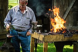 Blacksmith weekend at Hans Herr house, also known as the Christian Herr House, is a historic home located in West Lampeter Township, Lancaster County, Pennsylvania. It was built in 1719, Oldest Homestead in Lancaster County.