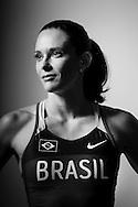 Sao Paulo, Brazil, May 24 of 2012: Fabiana Murer, pole vault world champion, during a Nike photo shoot in a studio, in Sao Paulo - Brazil.  (Photo: Caio Guatelli)