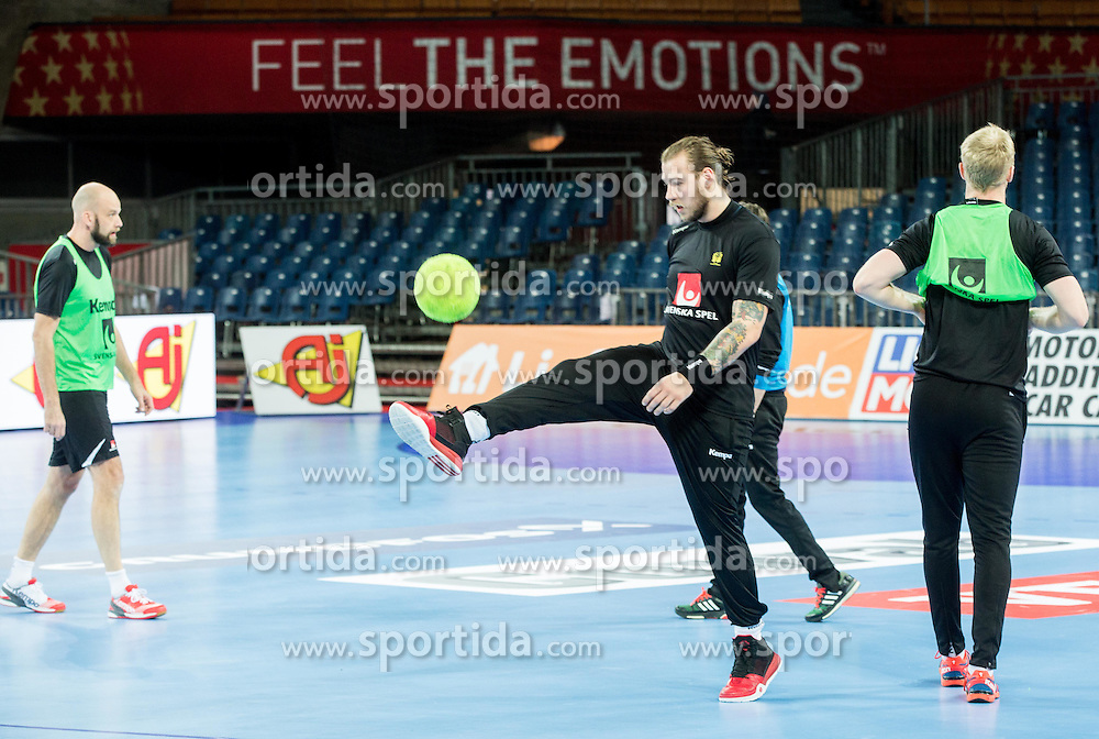 Andreas Nilsson during practice session of Team Sweden on Day 1 of Men's EHF EURO 2016, on January 15, 2016 in Centennial Hall, Wroclaw, Poland. Photo by Vid Ponikvar / Sportida