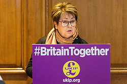&copy; Licensed to London News Pictures.24/04/2017.London, UK. UKIP Women and Equalities Spokesman Margot Parker MEP<br /> makes a part policy announcement at the Marriott County Hall in Westminster, London. Paul Nuttall recently announced plans to ban the burkha in the UKIP 2017 general election manifesto.Photo credit: Ray Tang/LNP