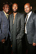 l to r: Jason Campbell, Edward Buchanan and Emil Welbkin at The VIBE Magazine & Memsor Kamarake and Beverly Smith Salute to Black Men In Fashion ? NY Fashion Week Fall ?08 held Norwood on September 11, 2008