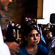 """Coptic Baptism in the church of Muqattam or """"Garbage Village"""", Cairo"""