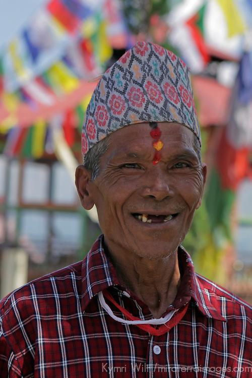 Asia, Nepal, Kathmandu. Smiling Nepali Man.