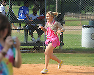 Emilee Smith plays kick ball during Oxford High senior field day at Stone Park in Oxford, Miss. on Wednesday, May 12, 2010.