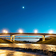 Clearfork Main Street bridge over the Clear Fork of the Trinity River on October 10, 2013 in Fort Worth, Texas.<br />