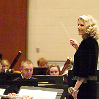 Guest conductor Joanie Haverstick during the 12th Annual ArtsGala at Wright State University's Creative Arts Center, Saturday, April 2, 2011.