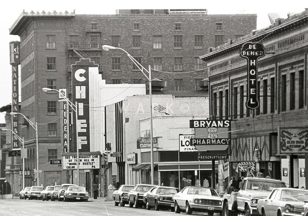 1970's view of Main Street, Pueblo, Colorado