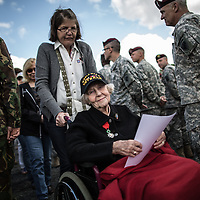 WWII veteran, Dorothy Levitsky-Sinner 97 y/o, volunteered w/sister, US Army Nursing Corps, going thru netherland and US army personal during the celebrations in Picauville