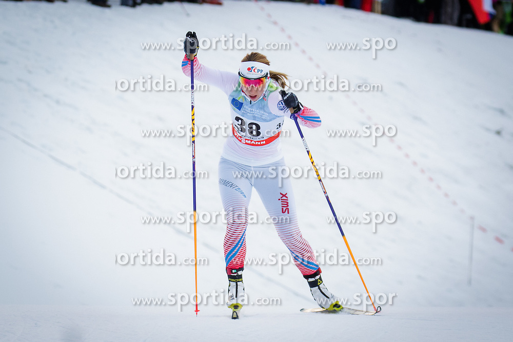 Karolina Grohova (CZE) during Ladies 1.2 km Free Sprint Qualification race at FIS Cross<br /> Country World Cup Planica 2016, on January 16, 2016 at Planica,Slovenia. Photo by Ziga Zupan / Sportida