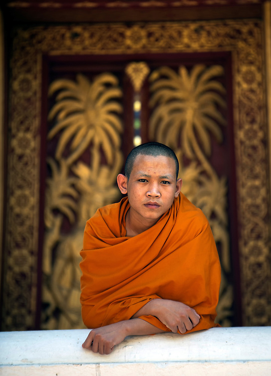 A novice monk in Luang Prabang, Laos.