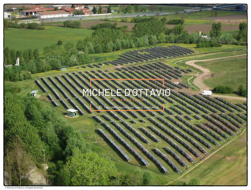 Impianto fotovoltaico a CASSAGNA di Pianezza (TO) per la riqualificazione di una prima parte della discarica di rifiuti ancora in attività..