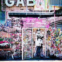MIAMI, FLORIDA -- July 11, 2015 -- GAB Studio is seen in the colorful and vibrant Art Walk in the Wynwood Art District Miami, Florida.  The event on the second Saturday of every month features not only public art, but gallery tours, dining at a myriad of restaurant and a party atmosphere after dark.  (PHOTO / CHIP LITHERLAND)
