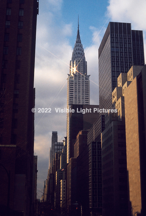 From my film archive, this shot of the Chrysler Building in NYC was taken around 1974, just recently scanned at roughly 4K resolution.  Originally taken with a Canon F1 using a 50-mm f-1.4 lens, unknown aperture or shutter speed.  Film stock was Kodak High Speed Ectachrome- ASA 160.
