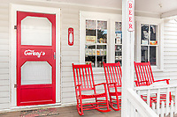 The front porch of Corkey's, a general store at Ocracoke Island on the Outer Banks, NC.