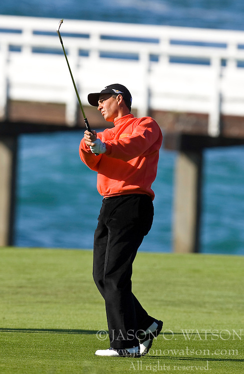 February 14, 2010; Pebble Beach, CA, USA;  Tom Pernice, Jr., on the fourth hole during the final round of the AT&T Pebble Beach Pro-Am at Pebble Beach Golf Links.