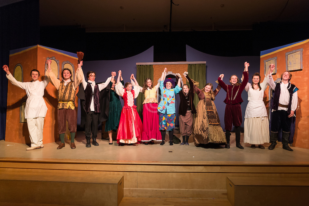 Maine Coast Waldorf School, High School 10th grade stage play Servant of Two Masters