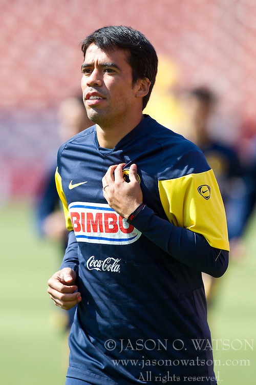 August 3, 2010; San Francisco, CA, USA;  Club America midfielder Pavel Pardo (13) practices at Candlestick Park a day before their match with Real Madrid.