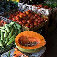 North Africa, Morocco, Fes. Vegetables of Fes souk.