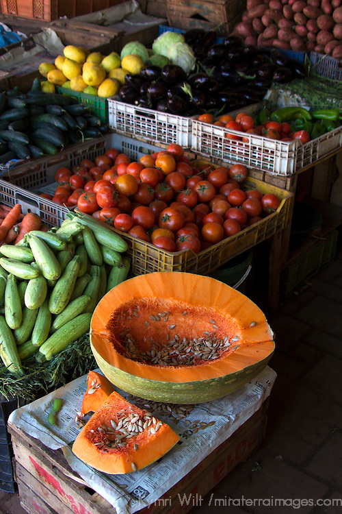 North Africa, Morocco, Fes. Vegetables of Fes souk.