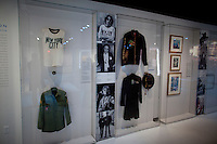 John Lennon memorabilia on display at The Rock and Roll Hall of Fame Annex in New York City..(Photo by Robert Caplin)..