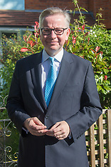 2016-07-03 Michael Gove leaves home to attend Andrew Marr Show