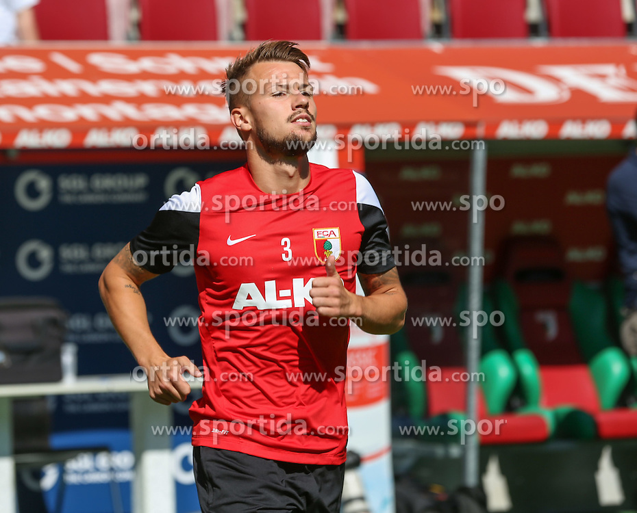 06.07.2014, SGL Arena, Augsburg, GER, 1. FBL, FC Augsburg, Training, im Bild Ronny Philp (FC Augsburg #3), // during a Trainingssession of German Bundesliga Club FC Augsburg at the SGL Arena in Augsburg, Germany on 2014/07/06. EXPA Pictures &copy; 2014, PhotoCredit: EXPA/ Eibner-Pressefoto/ Krieger<br /> <br /> *****ATTENTION - OUT of GER*****