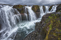 Kolugljúfur waterfall in north-west Iceland.