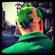 St. Patrick Day reveler in Washington, D.C. iPhone 4 with Instagram app. (Sam Lucero photo)