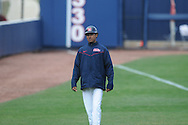 Ole MIss assistant coach Matt Mossberg at Oxford-University Stadium in Oxford, Miss. on Sunday, March 6, 2010. Tulane won 3-1.