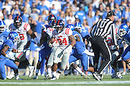 Ole Miss' Brandon Bolden (34) runs vs. Kentucky at Commonwealth Stadium in Lexington, Ky. on Saturday, November 5, 2011. Kentucky won 30-13...