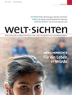 Cover photo for german magazine Welt-Sichten, may 2010